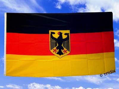 fahnen flaggen deutschland mit adler flaggenversand. Black Bedroom Furniture Sets. Home Design Ideas