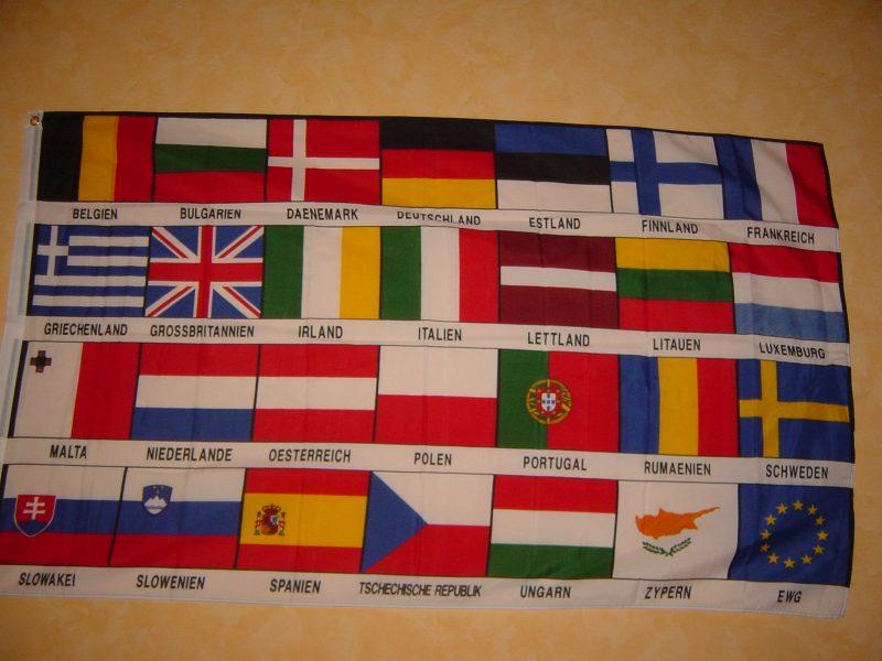 Fahnen flaggen europa 27 länder fahne